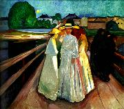 Edvard Munch pa bron oil painting reproduction
