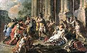 Francesco de mura Horatius Slaying His Sister after the Defeat of the Curiatii oil painting