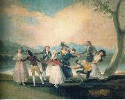 Francisco de Goya Das Blindekuhspiel oil painting reproduction