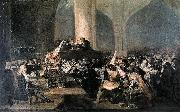 Francisco de Goya The Inquisition Tribunal oil painting reproduction