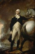Gilbert Stuart Oil on canvas portrait of George Washington at Dorchester Heights. oil painting
