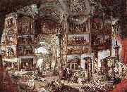 Giovanni Paolo Pannini Galerie de vues de la Rome antique oil painting reproduction