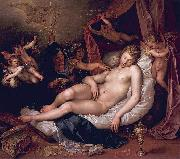 Hendrick Goltzius Danae receiving Jupiter as a shower of gold. oil painting artist