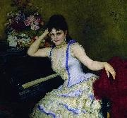 Ilya Yefimovich Repin Portrait of pianist and professor of Saint-Petersburg Conservatory Sophie Menter. oil painting reproduction
