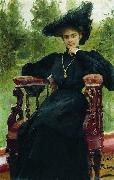 Ilya Yefimovich Repin Andreyeva by Repin oil painting on canvas