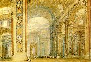 J.M.W.Turner the interior of st peter's basilica oil painting on canvas