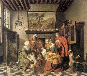 Jan Josef Horemans the Elder Tea Time oil painting