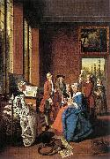 Jan Josef Horemans the Elder Concert in an Interior oil painting
