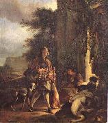 Jan Weenix After the Hunt oil painting