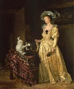 Jean Honore Fragonard Le chat angora oil painting reproduction