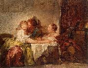 Jean Honore Fragonard Captured kiss oil painting reproduction