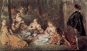 Jean-Antoine Watteau Die Champs elysses, Detail oil painting reproduction