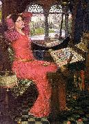 John William Waterhouse I am half sick of shadows said the lady of shalott oil painting reproduction