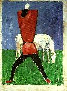 Kazimir Malevich peasant and horse oil painting on canvas