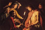Matthias Stomer Christ Crowned with Thorns oil painting