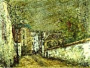 Maurice Utrillo berlioz hus i montmartre oil painting