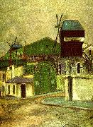 Maurice Utrillo moulin de la galette oil painting