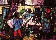 Max Beckmann cirkus caravan oil painting on canvas