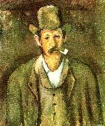 Paul Cezanne mannen med pipan oil painting reproduction
