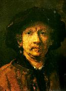 Rembrandt van rijn sjalvportratt oil painting on canvas