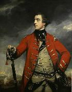 Oil on canvas portrait of British General John Burgoyne.
