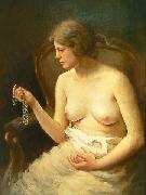 Nude girl by Czech painter Stanislav Feikl,
