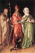 Saints Catherine, Hubert, and Quirinus with a Donor