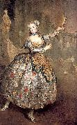 antoine pesne Portrait of the dancer Barbara Campanini oil painting