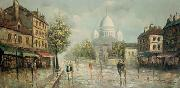 unknow artist Henri Royer Montmartre sous la pluie oil painting reproduction