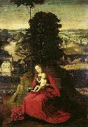 Adriaen Isenbrant Madonna and Child in a landscape oil painting reproduction