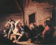 Carousing peasants in a tavern.