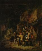Peasant family at home