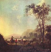 Aelbert Cuyp Landscape with herdsman and cattle. oil painting