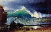 Albert Bierdstadt The Shore of the Turquoise Sea oil painting