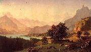 Albert Bierdstadt Bernese Alps oil painting