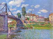 Alfred Sisley Bridge at Villeneuve-la-Garenne oil painting reproduction