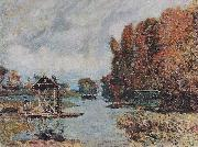 Alfred Sisley Wacherinnen von Bougival oil painting reproduction