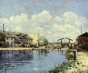 Alfred Sisley Kanal oil painting reproduction