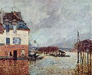 Alfred Sisley uberschwemmung in Port Marly oil painting reproduction