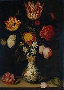 Ambrosius Bosschaert Still Life with Flowers in a Wan-Li vase oil painting