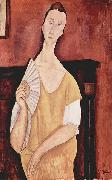 Amedeo Modigliani Woman with a Fan oil painting reproduction