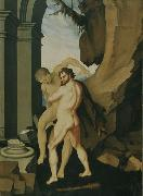 BALDUNG GRIEN, Hans Hercules and Antaeus oil painting reproduction