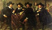 Bartholomeus van der Helst Four aldermen of the Kloveniersdoelen in Amsterdam oil painting reproduction
