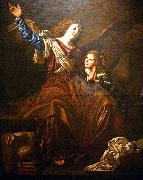 CAVAROZZI, Bartolomeo Guardian angel oil painting