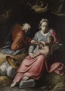 CORNELIS VAN HAARLEM Holy Family oil painting reproduction