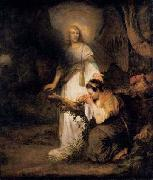 Carel fabritius Hagar and the Angel oil painting reproduction
