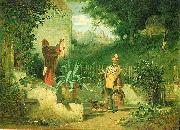 Carl Spitzweg Die Jugendfreunde oil painting reproduction