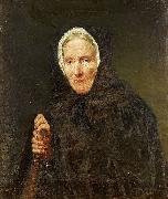 Carl d Unker Old Woman with a Rosary oil painting