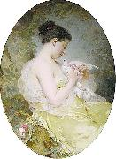 Young Girl with a Dove