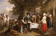 Charles I holding a council of war at Edgecote on the day before the Battle of Edgehill